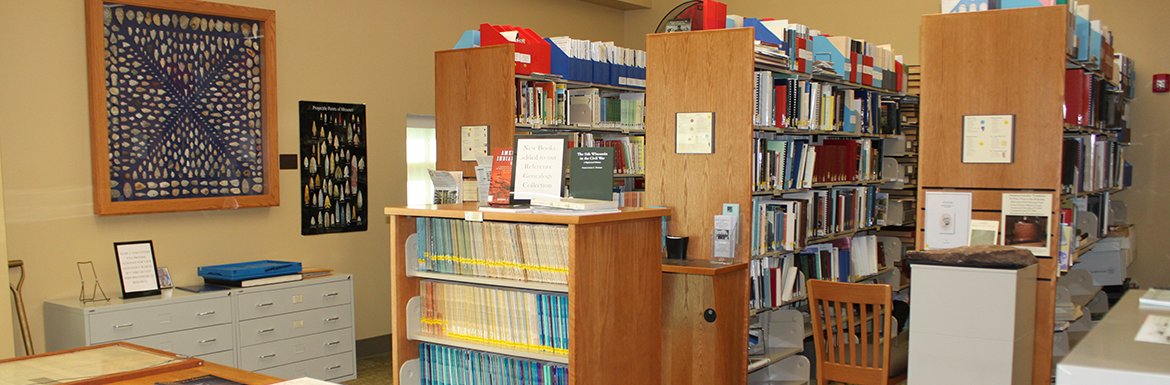 Interior shot of Baxter County Library's Genealogy & Local History Room