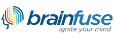 "Brainfuse logo with tagline: ""ignite your mind"""