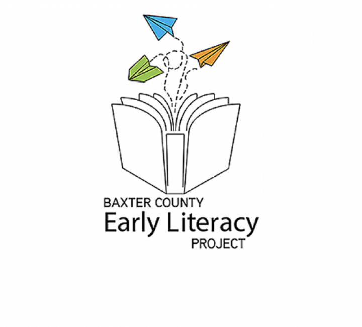 Baxter County Early Literacy Project logo graphic